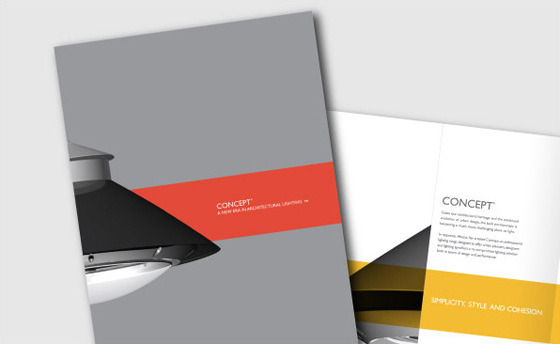 Product brochure design, lighting brochure graphic design, lighting guide design