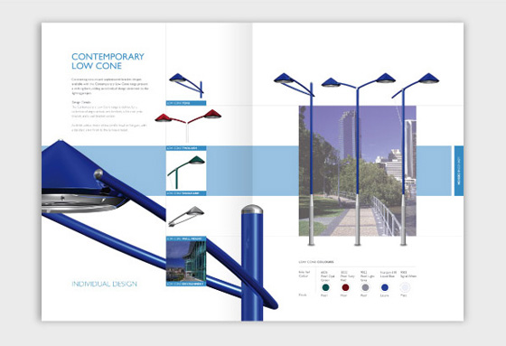 Product booklet design, product promotional design, print brochure design, lighting brochure graphic design